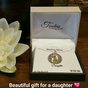 "Jewelry - NEW Sterling Silver 18"" DAUGHTER necklace in box"